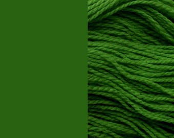 Wool yarn, grass green | bulky 2-ply worsted quick-knit pure wool yarn 100g/130m