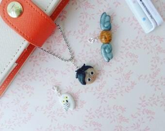 Halloween charm, harry charm, potter charm, hedwig owl charm, polymer clay charm, planner charm, snitch ball, geeky charm, TN planner charm