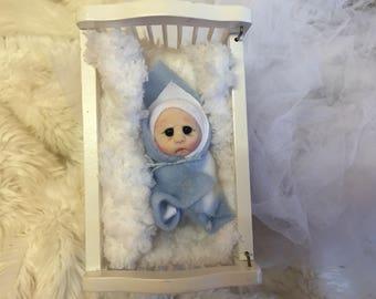 Cute Bundle Baby Boy! Polymer clay,artist doll,worldwide shipping!