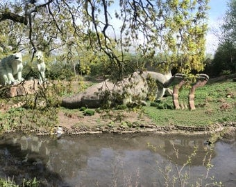 Crystal Palace Dinosaurs 11042017 | Original Panoramic Photography - Limited Edition