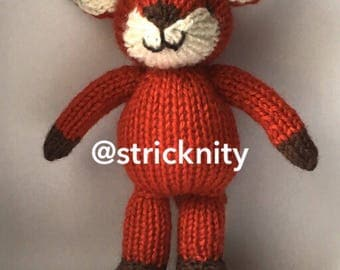 Knitted Baby Fox for baby , newborn photoprops