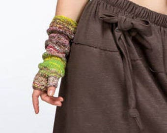 Fingerless Gloves/Arm warmers/Spring accessories/Gloves mittens/multicolour mittens/Mitt/Gloves & Mittens/Gift for her/gift ideas