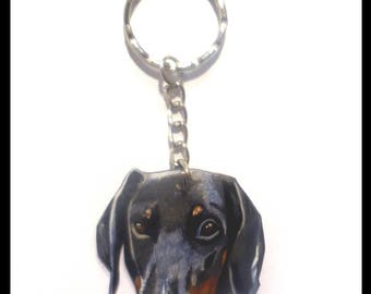 Key ring personalized pet shrink plastic.