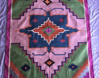 "4x6""Cotton handmade  dhurrie rugs - carpet design"