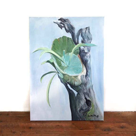 """Staghorn Fern"" Original Painting on Canvas"