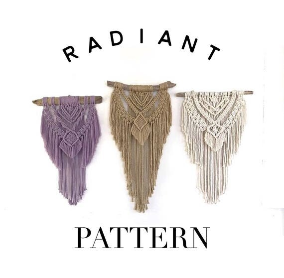 "Beginner Friendly ""Radiant"" Macrame Pattern"