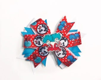 Dr. Suess Thing 1 and Thing 2 Hair Bow