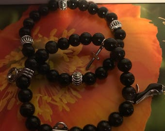 Black Jasper Stretch Bead