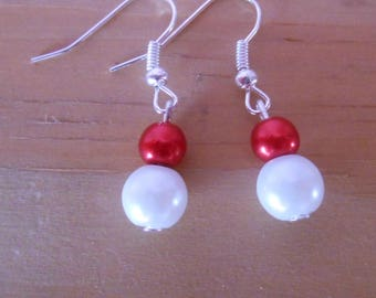 Wedding earrings pearls sensuality