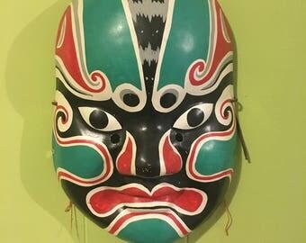 Large Hand Painted Peking Opera Mask Beijing Chinese New Year Wall Decor