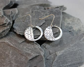 Jazzy Etched Sterling Silver Earrings (123117-006)
