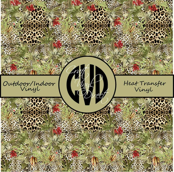 Leopard Patterned Vinyl // Patterned / Printed Vinyl // Outdoor and Heat Transfer Vinyl // Pattern 748