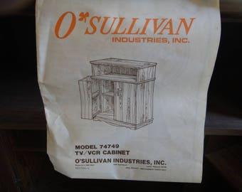 vintage VCR cabinet   pick up only   vintage  O'Sullivan VCR cabinet