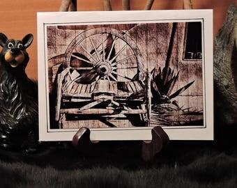 Artistic Card Set / Old Wagon Wheel Bench
