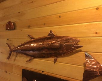 Hand hammered copper tuna