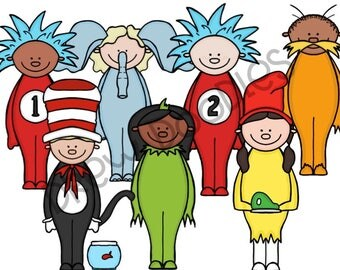 Children's Book Friends Digital Clip Art Set- Instant Download