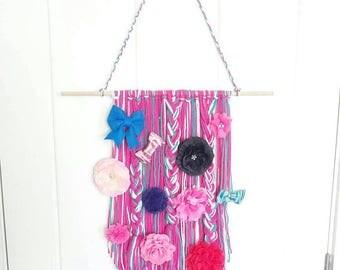 Bow holder wall hanging. | Boho wall hanging | bow storage