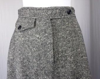 Anne Klein Saks Fifth Avenue Womens Skirt Vintage Wool Tweed A-Line Knee Length Sz 10