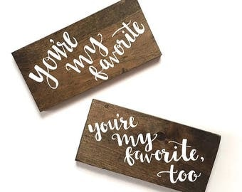 Mr. & Mrs. signs | chair signs | bride and groom sign | wooden sign | wedding decor | sweetheart table decor | handmade sign | wooden sign