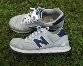 New Balance Shoes Vintage, Grey Navy Shoes, NB Running Shoes, Vintage New Balance, Size 10 US, Size 9.5 UK, Vintage Runners, Trainers, Comfy