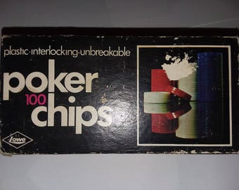 1968 ES Lowe Co. Poker chips Card Games Gambling Chips Betting Games