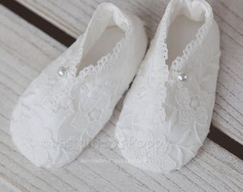 Baby christening shoes, christening booties, baptism shoes, baptism booties