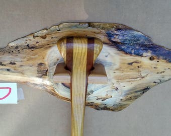 Rustic Slab-wood Canoe Paddle Display Stand Holder- Hand Made