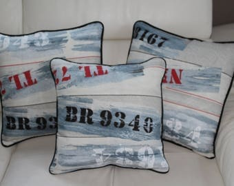 Sold individually 44/44 INDUS pillow cover / Navy