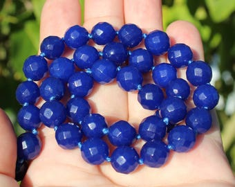 4 BEADS SAPPHIRE WAS FACETED ROUND 9 MM.
