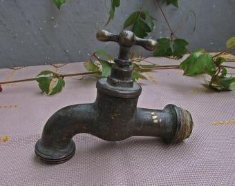 Vintage Brass Water Tap 1940s, Vintage Water Faucet, Brass Spigot, Vintage Water Spigot, Brass Water Faucet, Industrial Art Decor