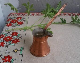 Vintage Coffee Maker, Turkish Copper Coffee Pot, Rustic Kitchen Decor, Cezve Coffee Maker, Turkish Coffee Maker, Handmade Copper Coffee Pot