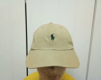 Rare Vintage POLO RALPH LAUREN Cap Hat Free Size Fit All