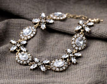 Vintage Crystal silver Chic Retro bracelet!
