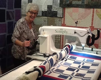 Single Quilt called 'Disappearing Four Patch'.