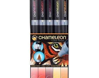 Chameleon 5 Pen Warm Tones Set CT0511 Color Tones Markers