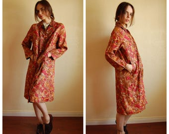 1960s fall colors lightweight coat/ small to large