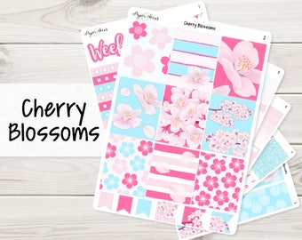 Cherry Blossoms Weekly Kit | Planner Stickers