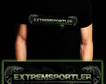 Extreme Athlete Carp | Waller | Carp | Catfish | Fishing T-shirt | S-3XL