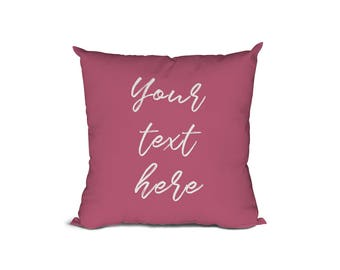 Custom Text Pillow,Custom Quote,Throw Pillow,Personalised Gift,Anniversary Gift, Gift for Her,Custom Gift, Pillows with quotes
