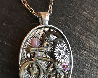 Bicycle necklace | gear necklace