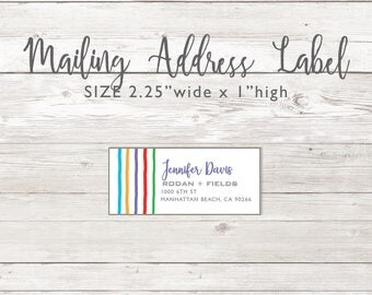 Mailing Address Return Labels -  Rodan and Fields
