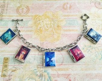 CLEARANCE SALE - Percy Jackson Miniature Book Charm Bracelet- Book Locket Bracelet