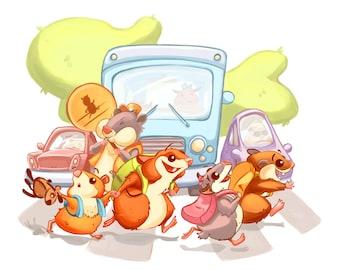 Back to School Hamsters