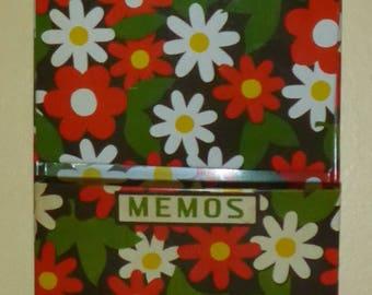 Vintage Metal Wall Hanging Letter/Memo/Misc - 1960's Flower Power Design
