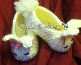 Baby Bunny crochet slippers