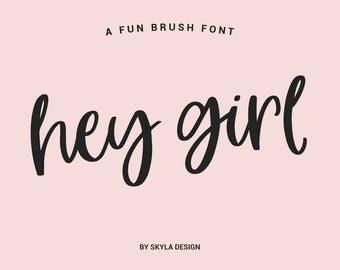 Modern brush font, Fun font, Bold font download, Digital font, Modern calligraphy font, Cursive font, Handwritten font, cute font,