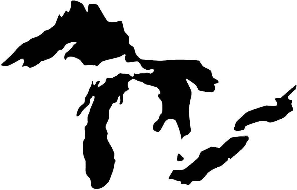 Pack Of 3 Great Lakes Stencils Made From 4 Ply Mat Board