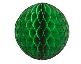 Ball dimpled dark green color, size 20 cm