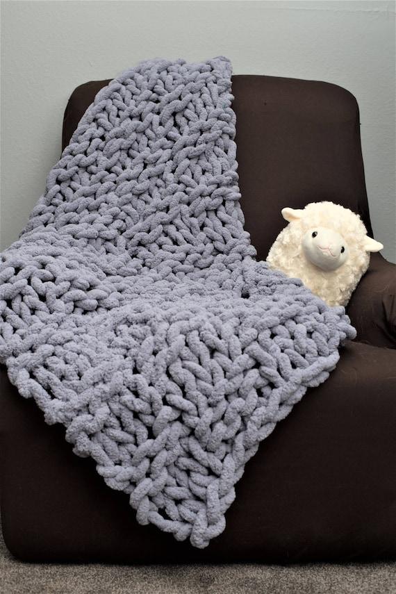 Knitting Chunky Yarn On Small Needles : Diy knitting kit super chunky chennile yarn and giant
