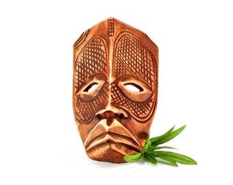 VINTAGE: Hand Carved Wood Mask - Indigenous Mask - Tribal Mask - SKU 24-A-00011566